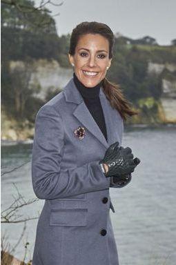 La princesse Marie sur la plus belle falaise du Danemark
