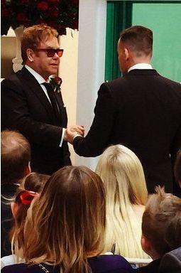 Elton John et David Furnish, leur mariage en images