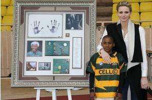 Charlène de Monaco en souvenir de Mandela