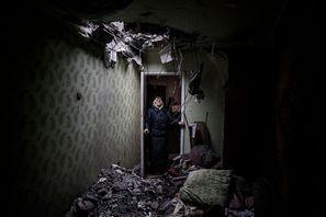 En Ukraine, les larmes gelées de Donetsk. Par Manu Brabo