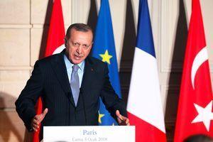 Recep Tayyip Erdogan à l'Elysée, le 5 janvier 2018.