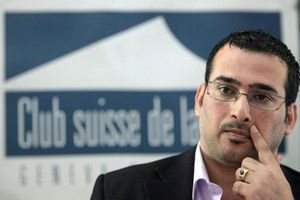 Mountazer al-Zaïdi à Genève, en octobre 2009.