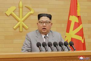 Kim Jong-un s'adresse aux Nord-Coréens, le 31 décembre 2017.