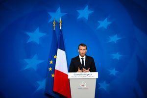 Emmanuel Macron lors du Conseil européen du 20 octobre dernier, à Bruxelles.