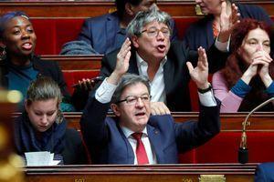 Jean-Luc Mélenchon à l'Assemblée nationale le 30 janvier.