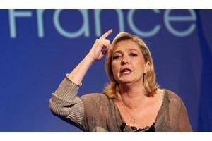Marine Le Pen, le 15 mars, à Palavas-les-flots (Hérault).