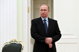Vladimir Poutine au Kremlin à Moscou, le 21 mars 2017.