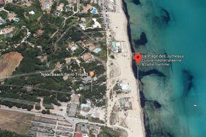 Vue aérienne de la plage des jumeaux