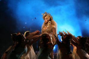 Beyonce aux Grammy Awards, en février 2017.