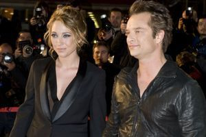 Laura et David Hallyday à Cannes en 2010.
