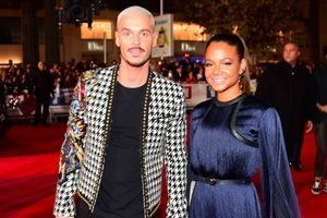 Matt Pokora et Christina Milian le 4 novembre 2017 lors des NRJ Music Awards à Cannes