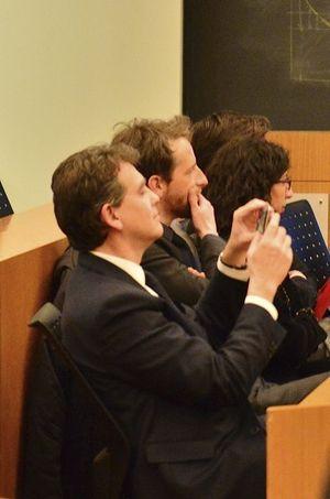Arnaud Montebourg était présent à la conférence d'Aurélie Filippetti.
