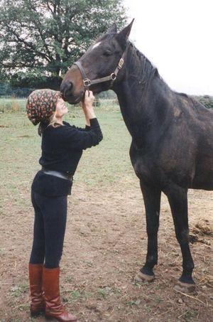 Brigitte Bardot à la Mare Auzou en 1998