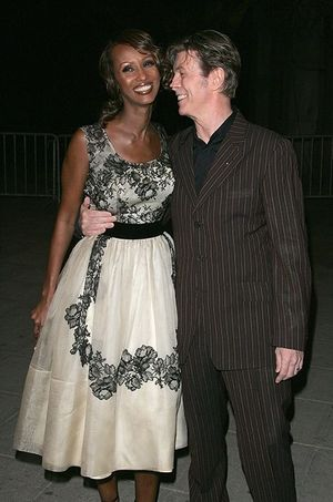 Iman et David en avril 2005 à New York.