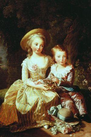 """""""Portrait des deux enfants aînés de la reine"""" par Elisabeth Vigée-Lebrun, 1784"""