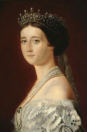 Portrait de l'impératrice Eugénie par Oswald Brierly