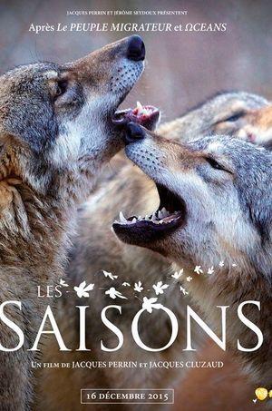 """Affiche du nouveau documentaire de Jacques Perrin """"Les Saisons""""."""