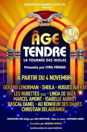 """L'affiche du la tournée """"Âge tendre""""."""