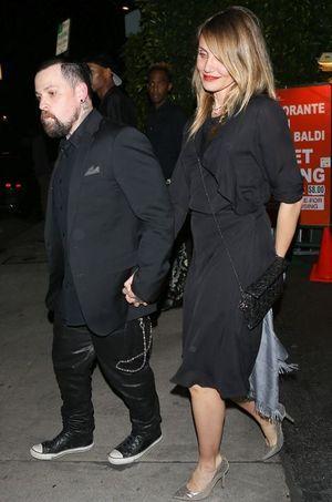 Benji Madden et Cameron Diaz à Los Angeles le 14 février