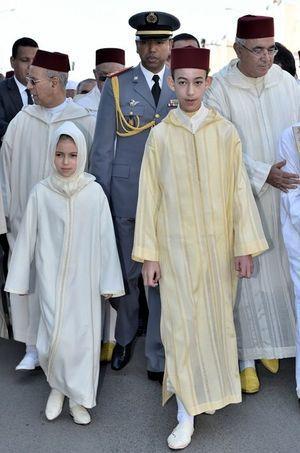 Le prince Moulay El Hassan du Maroc et la princesse Lalla Khadija à Sala Al Jadida, le 22 janvier 2015