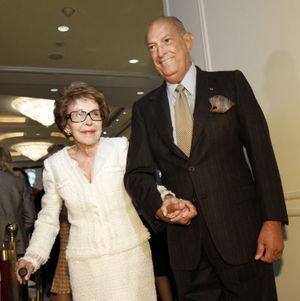Avec Nancy Reagan en 2011
