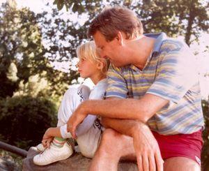 En 1977, avec Elise durant un voyage effectué en camping-car familial dans ce qui était encore la Yougoslavie.