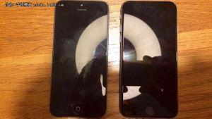 L'iPhone 5se à droite