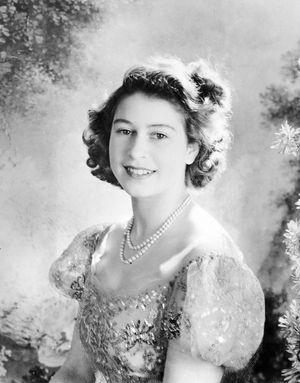 La princesse Elizabeth prise en photo par Cecil Beaton en 1946. La future reine a 20 ans.