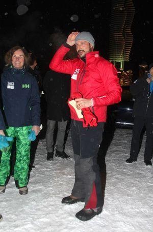 Le prince Haakon de Norvège à Lillehammer, le 9 janvier 2015