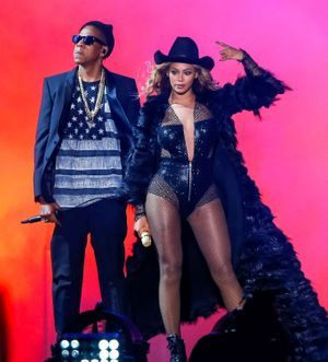 Beyoncé and Jay-Z à Houston, le 18 juillet dernier.