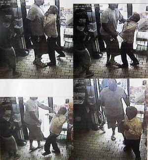 Les captures d'écran de la caméra de surveillance montrant le vol de cigares, quelques heures avant la mort de Michael Brown.