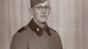 Oskar à l'âge de 21 ans lors de son entrée dans les Waffen SS.