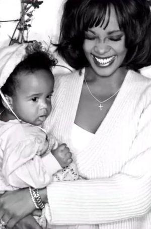 Bobbi Kristina avec sa mère, Whitney Houston.