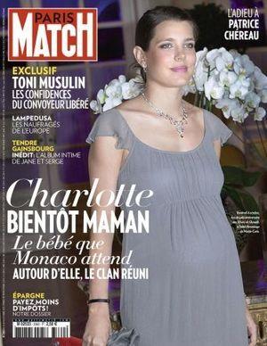 Charlotte en couverture de Paris Match