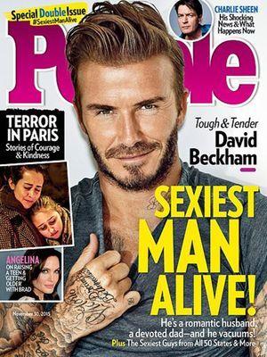 David Beckham est l'homme le plus sexy de l'année 2015.