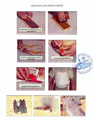 Document expliquant la fabrication d'une ceinture d'explosifs