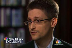 Edward Snowden, durant une interview avec la chaîne américaine NBC diffusée mercredi dernier.