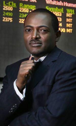 Ermias Eshetu, directeur général de l'Ethiopia Commodity Exchange, la bourse d'Addis-Abeba. L'une des plus modernes d'Afrique, où peuvent s'effectuer plus de 100.000 transactions par heure