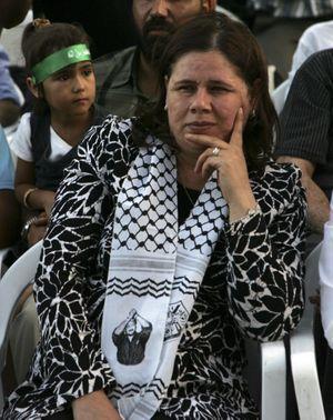 Fadwa Barghouti, l'épouse de Marwan, en 2008.
