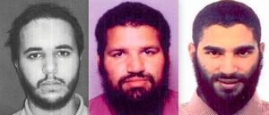 Farouk Ben Abbes (à g.) était un proche des frères Clain, Jean-Michel (au centre) et Fabien,