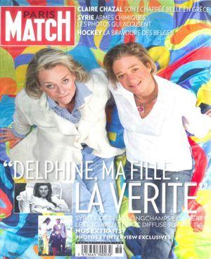Sybille de Sélys Longchamps et Delphine Boël, en couverture de Paris Match Belgique.