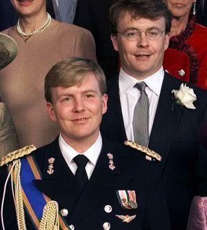 Le prince Friso et son frère Willem-Alexandern au mariage du futur roi, le 2 février 2002.