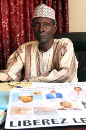 En l'absence de son président incarcéré, le directeur de campagne Hamadou Youba Diallo s'exprime pour le Lumana-Africa. Ici à Niamey, le 19 février 2016