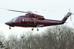 """Le """"Queen's Flight"""", l'hélicoptère de la reine Elizabeth II"""