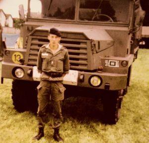 Hervé Cornara, à 19 ans, lors de son service militaire