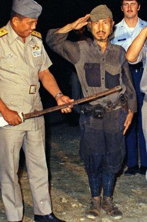 Hiroo Onoda en mars 1974.