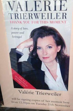 Valérie Trierweiler signera des dédicaces, mardi, dans une librairie sur Piccadilly.