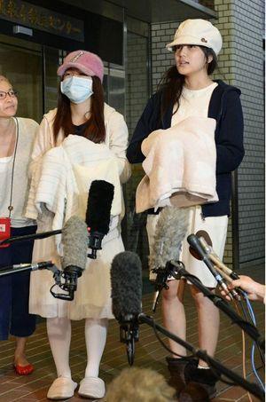 Rina Kawaei et Anna Iriyama, les deux jeunes filles agressées.