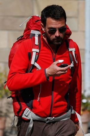 Jérôme Kerviel mercredi, à la sortie d'un hôtel de Modène.