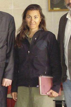 Lynsey Addario lors de sa libération en 2011